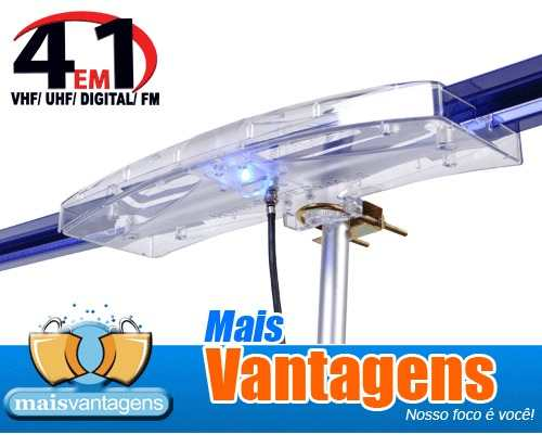 Antena Digital Amplificada Capte Diamante 3 unidades