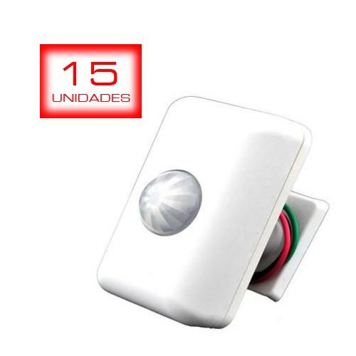 15 unid - Sensor de Presença de Parede Articulado Bivolt