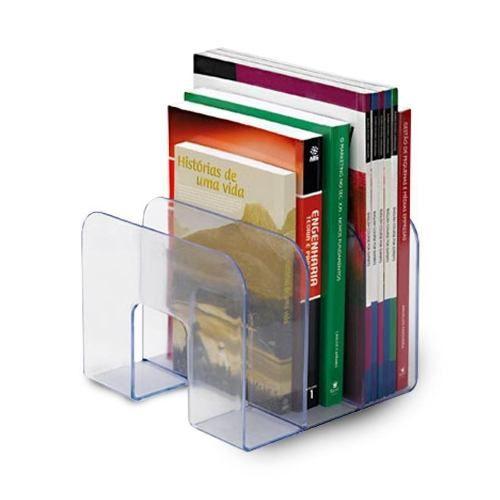 Organizador Triplo de Livros Acrílico