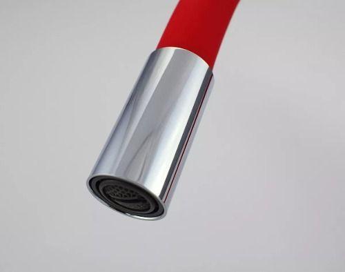 Torneira Bica Movel Mesa - Bancada - Pia C34 1/4 volta Vermelha