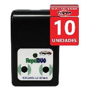 Repelente Eletrônico Ultrassônico Repel Duo Capte Kit 10 Un
