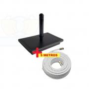 Antena Digital 4K Interna Omnidirecional Capte Onix e Cabo Coaxial 5 mts