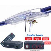 Antena Digital Amplificada  4K Externa Capte Diamante e Conversor Digital Aquários DTV 4000S