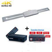 Antena Digital Externa Capte Prata e Conversor Sinal Digital Aquário Dtv4000