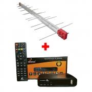Antena Externa Digital 4K Log 28 Elementos + Conversor Imagevox