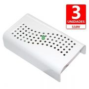 Anti Mofo Eletrônico R14 110V kit 3 unid. Branco Repel Mofo, Anti-Ácaro e Fungos, Desumidificador Capte