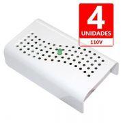 Anti Mofo Eletrônico R14 110V kit 4 unid. Branco Repel Mofo Anti-Ácaro e Fungos Desumidificador Capte