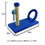 Brinquedo Arranhador para gatos Cat Arco Retangular Azul