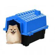 Casa de Cachorro Casinha Eco Colors Dog House Evo Pequena N2 Azul - Plástico