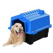 Casa de Cachorro Casinha Prime Colors Dog House Evo Grande N4 Cor Azul - Plástico