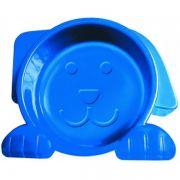 Comedouro Alimentador para Cachorro Dog Face Azul 600 ml
