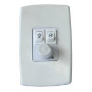 Controlador de Velocidade Triplo de Ventilador - Dimmer, Lâmpada e Exautor - Espelho
