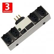 Extensor de Tomadas Capte Fix - Filtro de Linha Inteligente - 3 unidades