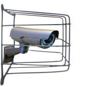 Grade de Proteção de Câmeras de Segurança Capte Protetor Preta - 8 Unidades