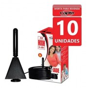 Kit 10und Antena Digital Interna Jade Cabo 4 Mt E Fácil Fix