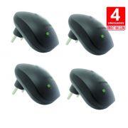 Repelente Eletrônico RepelMax preto, Bivolt, Inaudível, Econômico, Leve 4 Unidades