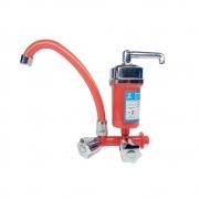 Torneira Para Cozinha Com Filtro Purificador Cor Vermelha Bica Móvel C50