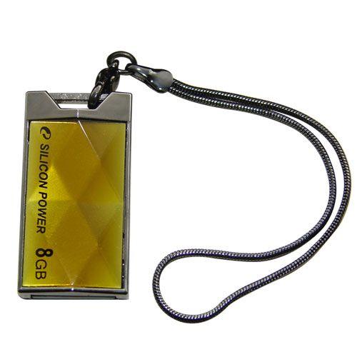 Pen Drive 8 GB Amarelo Touch / Super Luxo - Tipo Pingente