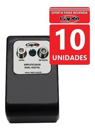 Kit 10 Un Amplificador Antena Tv Digital 30db Booster Capte