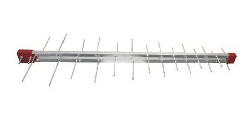 - Antena Externa Digital 4k Log 28 Elementos E Cabo 10 Metros + Mastro 50cm
