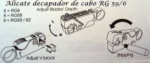 10 Alicate Decapador Desencapador Cabo Coaxial Rg59 Rg6