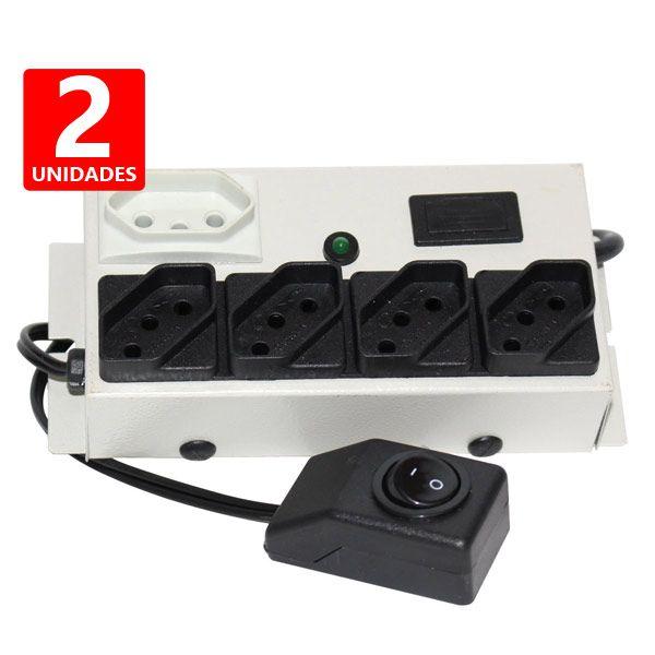 2 Filtros de Linha Eco 5 tomadas economizador de energia