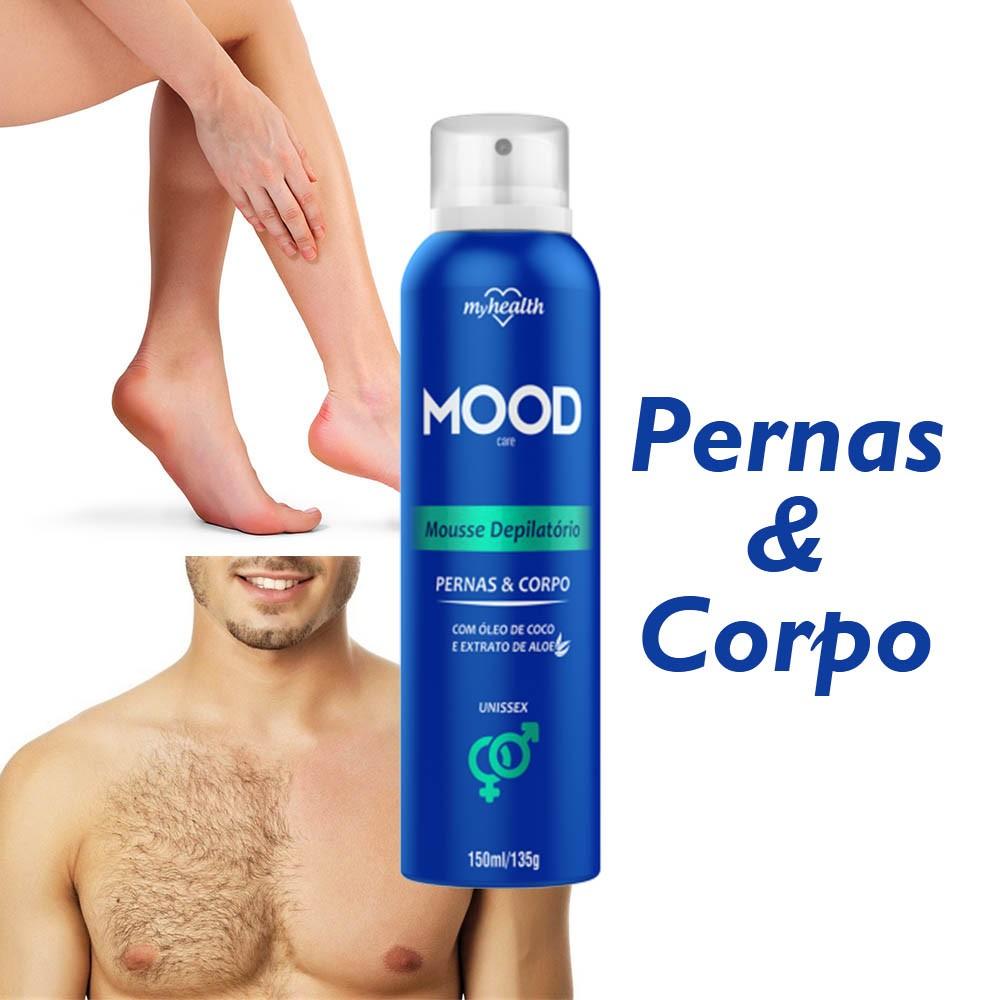 2 Mousse Depilatório Pernas e Corpo Unissex