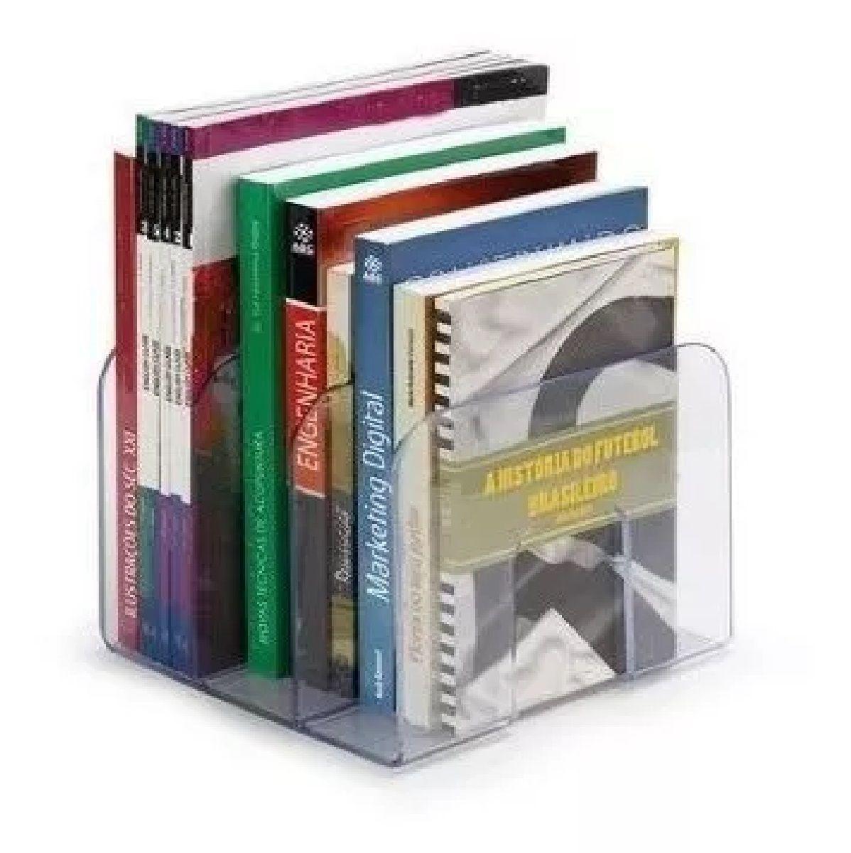 2 Organizador Triplo de Livros Acrílico
