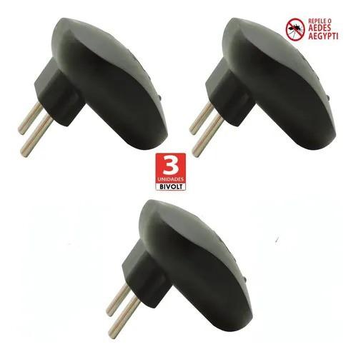3 Repelente Eletrônico Mosquito Pernilongo Repelmax Preto