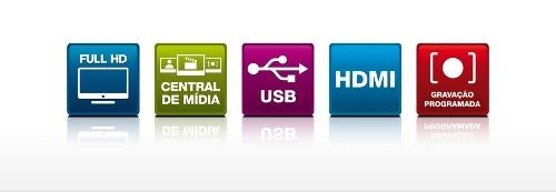 Conversor Digital Dtv 5000 Aquario Hdmi-usb + Capte Grafite