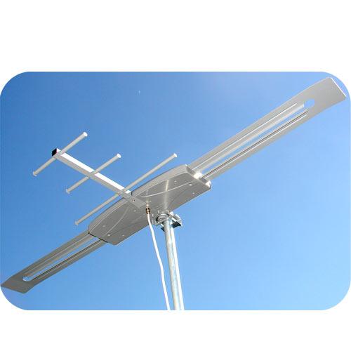Antena Tv Digital Externa VHF UHF Digital Capte K7 Turbo com Extensor Digital Alcance 70 Km