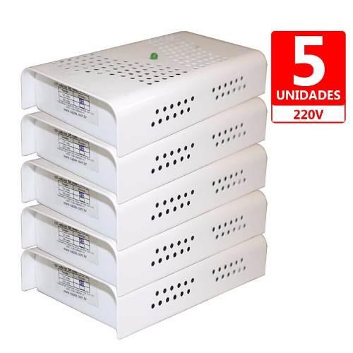 Anti Mofo Eletrônico Desumidificador, Anti Ácaro e Fungos - 5 unidades - 220V