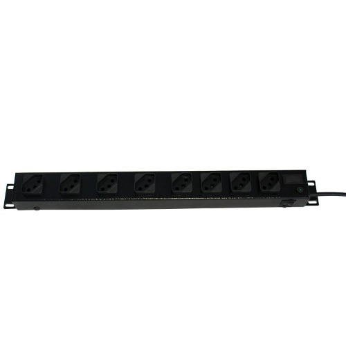 Filtro de linha Régua 8 Tomadas Rack 19 2 unidades 110v/220v 2200 watts