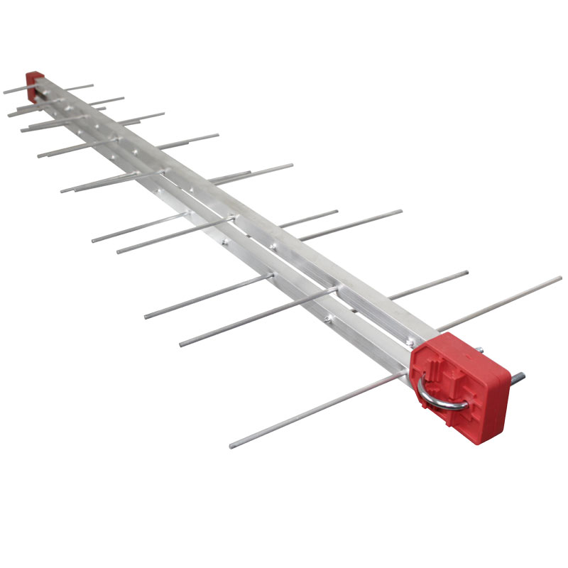 Antena Digital 4K Log Periódica 28 Elementos Digital UHF e Mastro Articulável 50 cm Capte