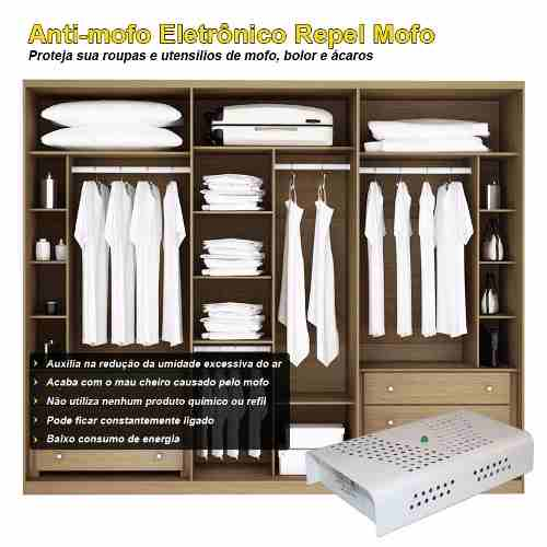 Anti Mofo Eletrônico Desumidificador, Anti Ácaro e Fungos - 10 unidades