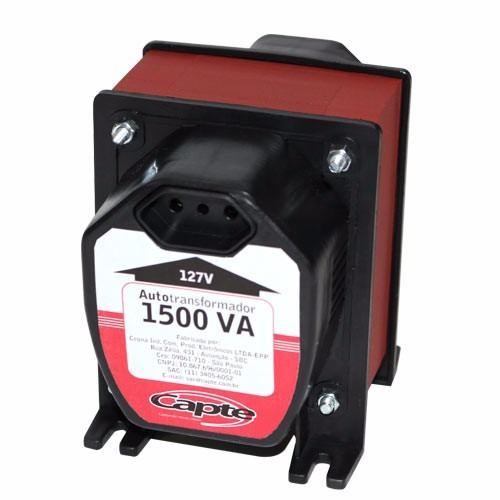 Auto transformador 1500VA/ 1050W bivolt 110V/220V Tripolar Capte