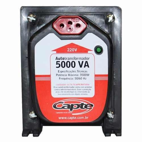 Autotransformador 5000VA / 3500 W  bivolt 110V/220V Tripolar Capte com LED
