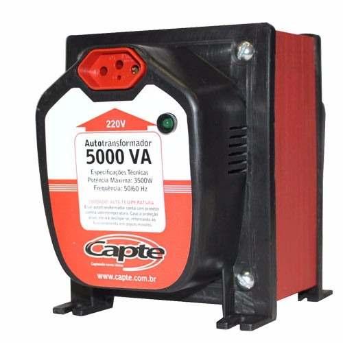 Auto transformador 5000VA/ 3500W  bivolt 110V/220V Tripolar Capte com LED