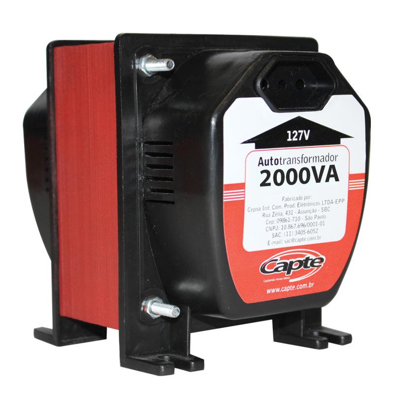 Auto transformador 2000VA / 1400W  bivolt 110V/ 220V Tripolar Capte