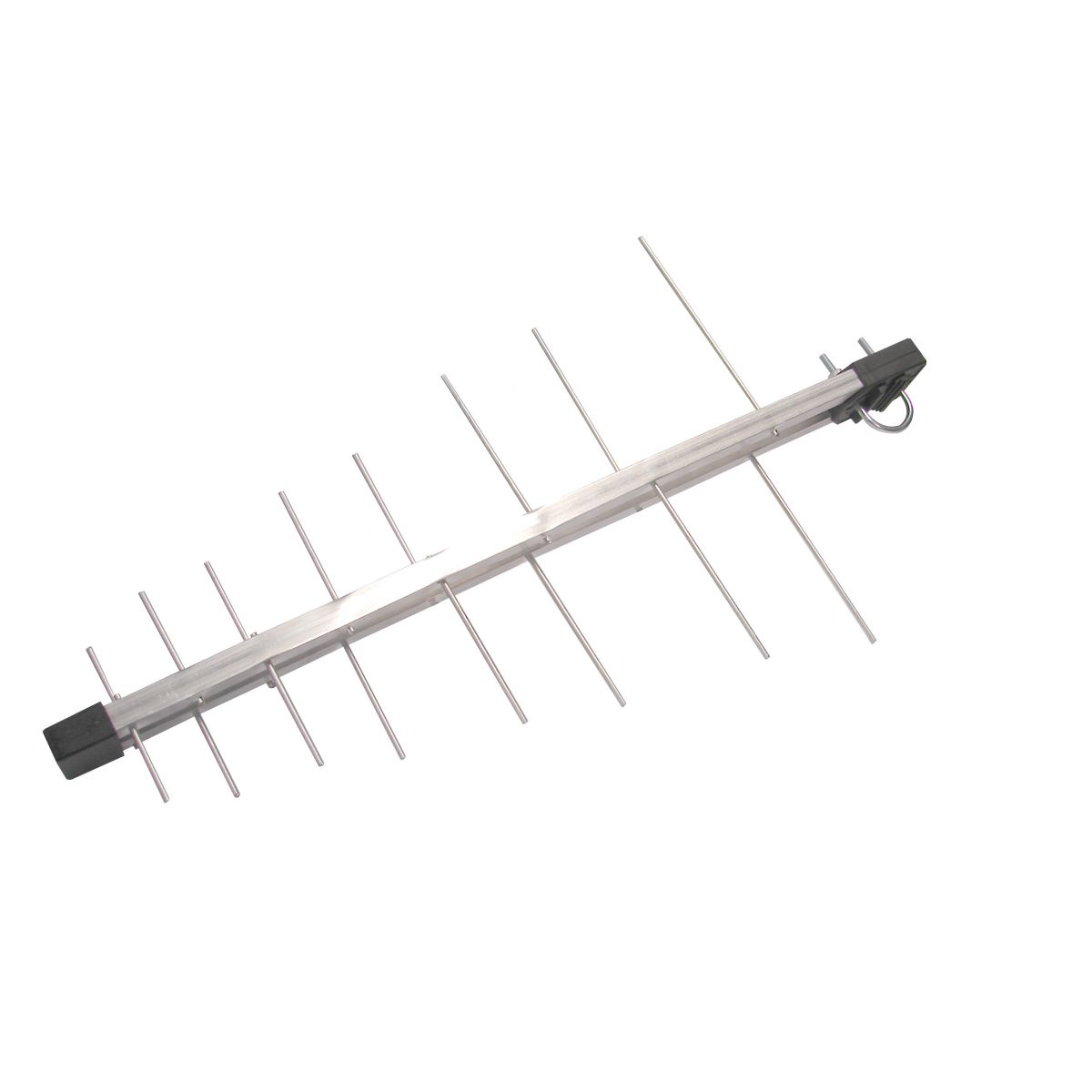 Kit Antena Tv Digital 4K Externa Log 16 Elementos c/ Mastro Articulado 45 cm e Cabo Coaxial Capte 12 metros