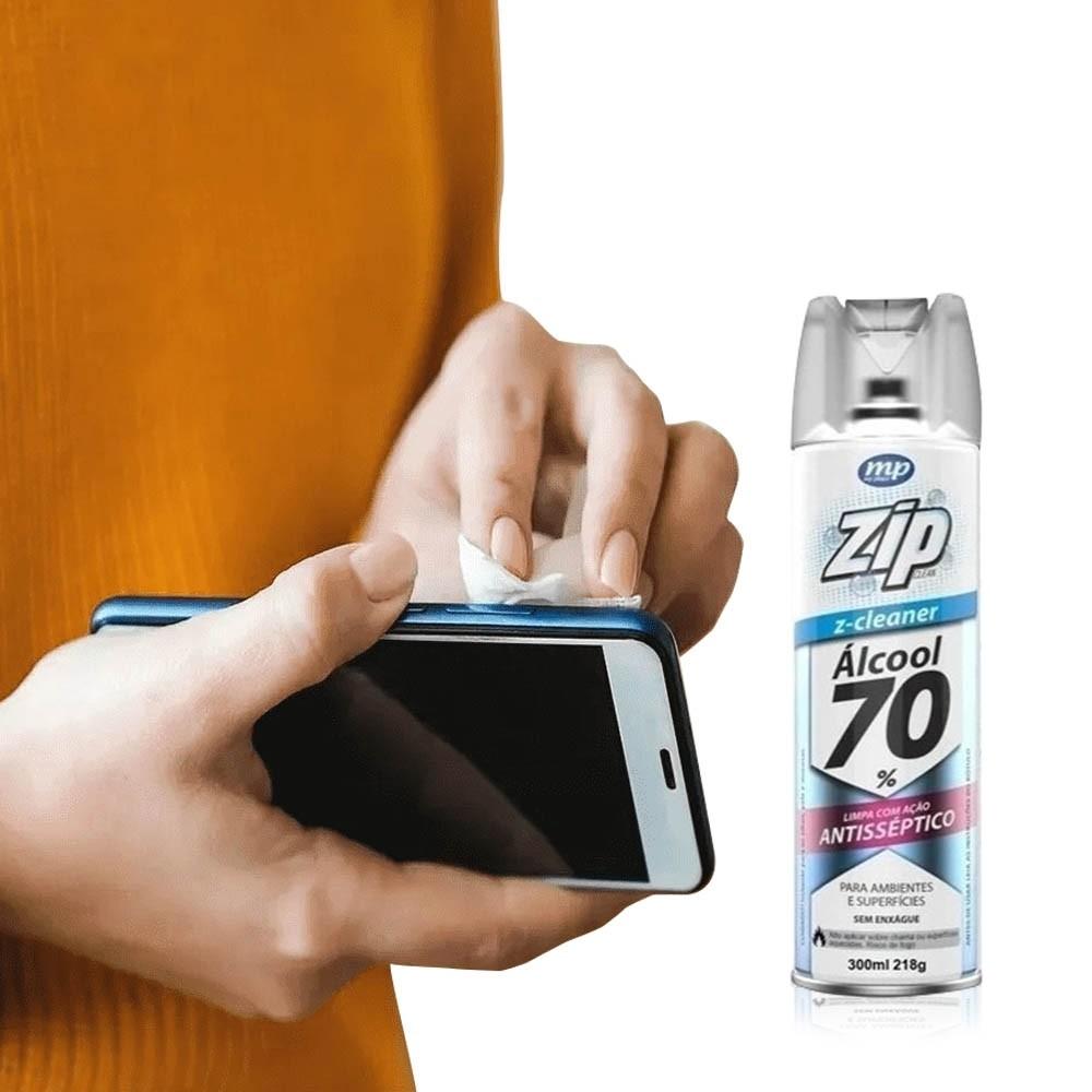 Álcool 70% Spray Antisséptica eletrônicos e celulares
