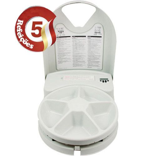 Alimentador Eletrônico para Cães e Gatos com Programação de até 5 Refeições - Eatwell Plus Branco