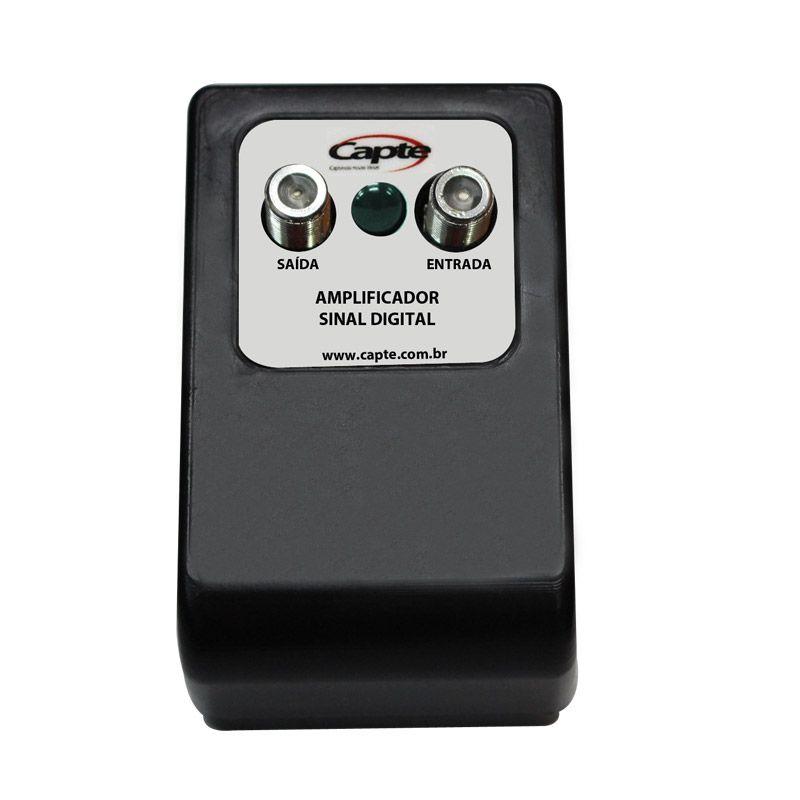 Amplificador Booster Antena TV Sinal Digital Linha 30dB Capte