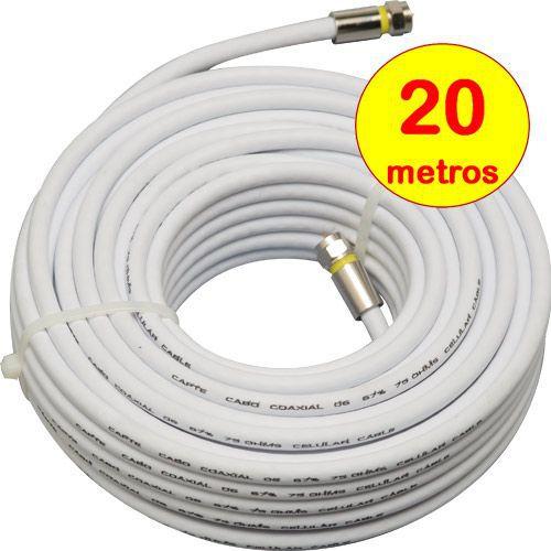 Antena Digital 4k Externa Log 38 + Mastro 50cm E Cabo 20m