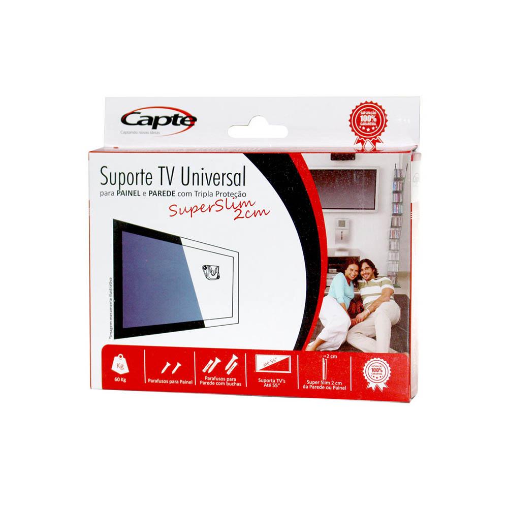 Antena Digital 4K Log 16 Com Cabo De 20m E Suporte TV Universal Para Painel e Parede Capte