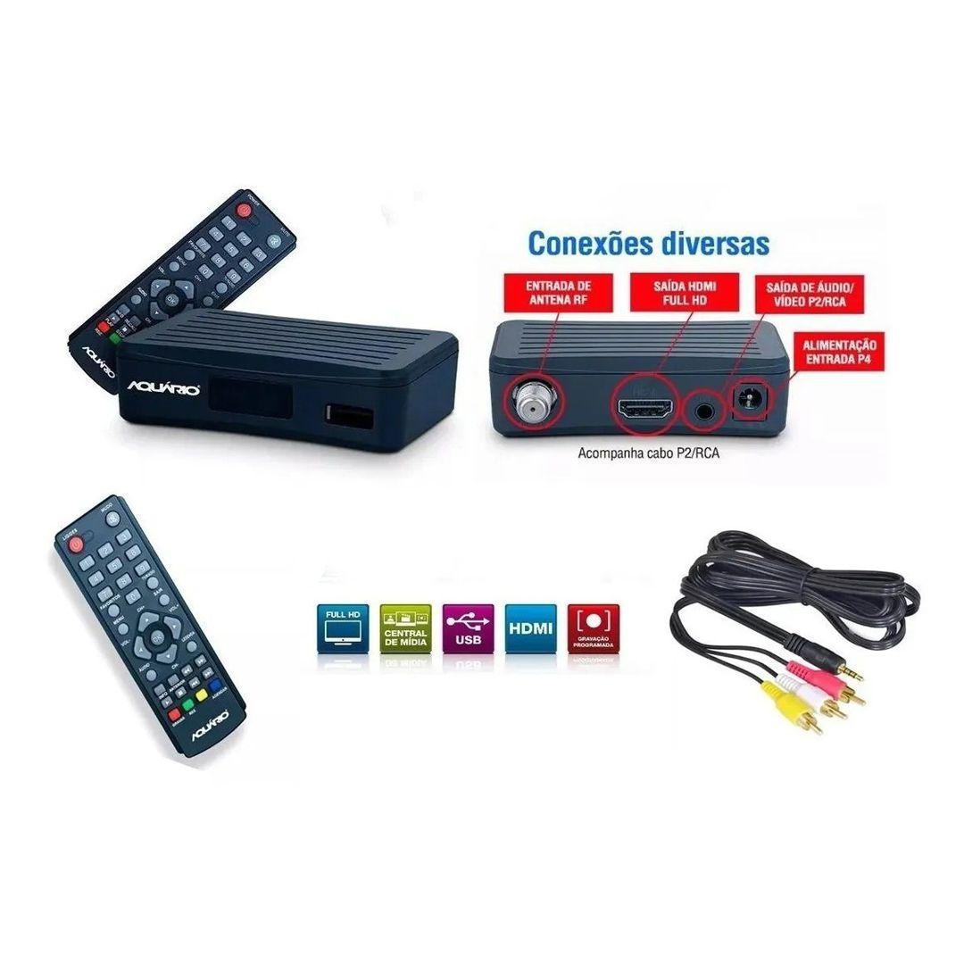 Antena Digital 4K Log 28 Elementos E Conversor Digital DTV4000S