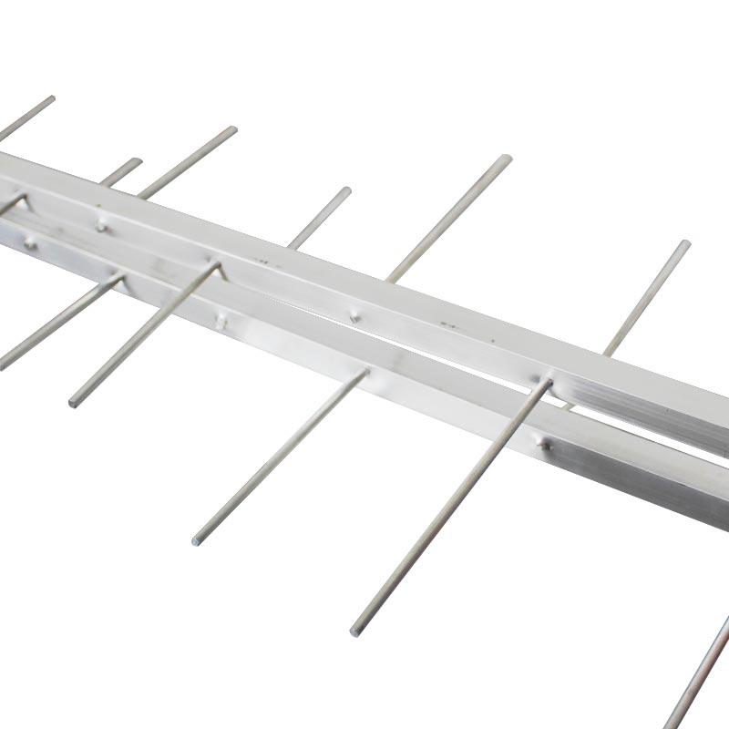 Antena Digital Externa 4K Capte Log 16 Elementos + Conversor  Digital 7000 + Cabo 10 metros + Mastro 45 cm