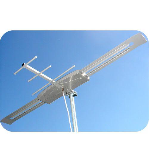 Antena Digital Externa Amplificada K7 Mastro Articulável 45 cm Cabo Coaxial 50mts - Capte