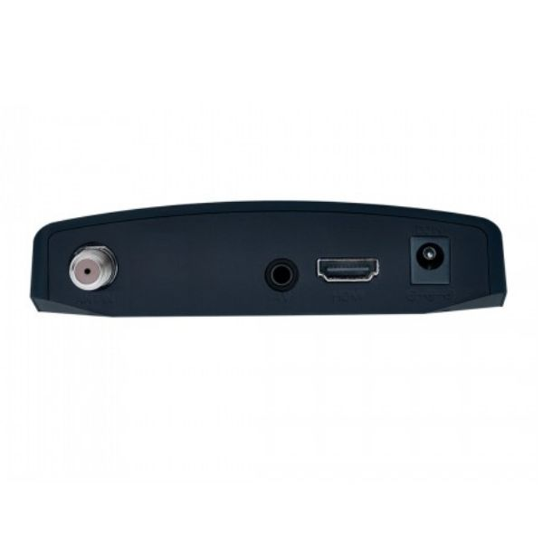 Antena Digital Externa Capte Grafite + Conversor e Gravador Digital Dtv 7000S Aquario HDMI - USB