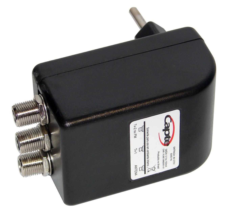 Antena Tv Digital Externa VHF UHD Digital  Capte K7 Turbo com Extensor Digital Alcance 70 Km